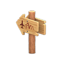 Animal Crossing Angled Signpost|Airport Image