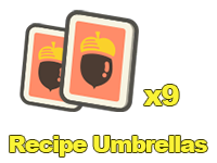 Recipe Umbrellas x9