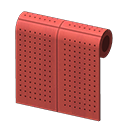 Red Perforated-Board Wall