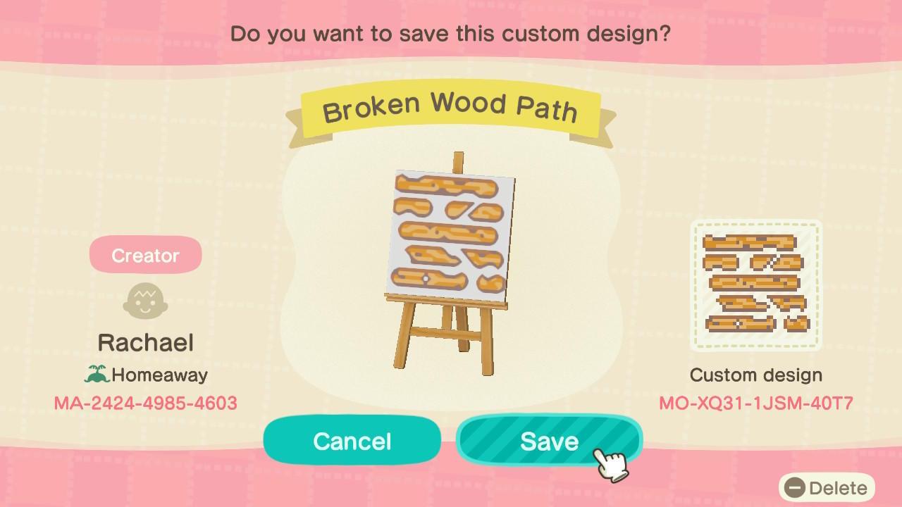 Animal Crossing New Horizons Design ID Codes, ACNH Creator ... on Animal Crossing New Horizons Wood Design  id=89242