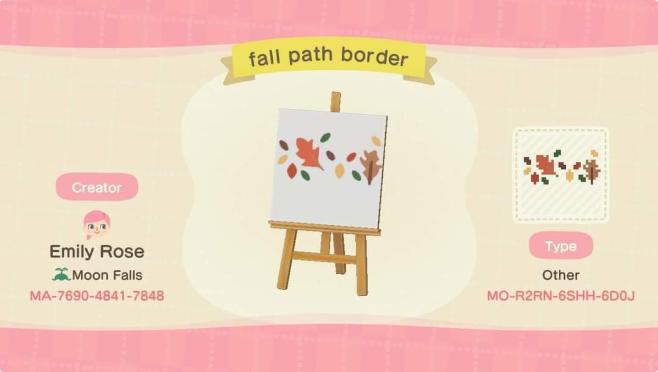 acnh fall path 1