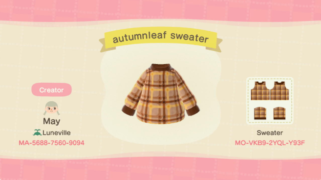 acnh fall clothes 4
