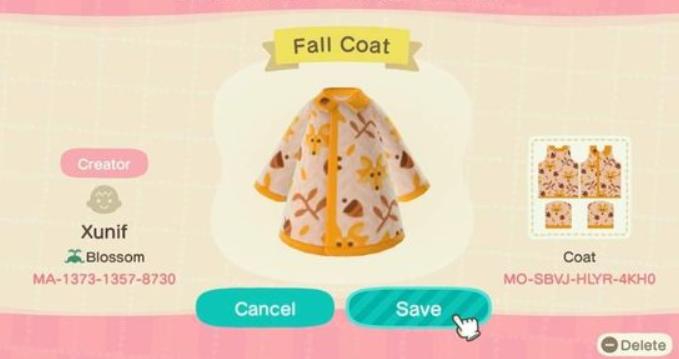 acnh fall clothes 5