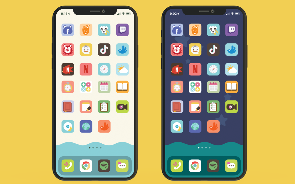 How To Use Animal Crossing Icons Wallpaper To Custom Your Phone Home Screen Into Acnh Nookphone Layout