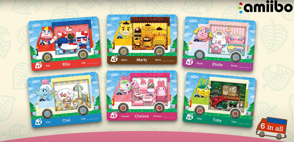Animal Crossing New Horizons Sanrio Amiibo Cards & Villagers