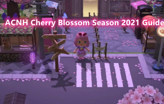 Acnh Cherry Blossom Sakura Season 2021 How To Get Cherry Blossom Recipes Crafting Materials And Items In Animal Crossing